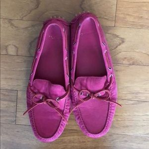 Cole Haan Pink Driving Mocs size 7.5